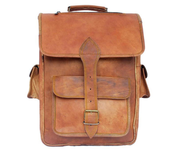 MR HICKS - LEATHER SATCHEL BACKPACK 16""