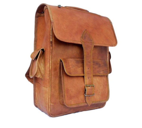 THE HICKS - LEATHER SATCHEL BACKPACK 16""