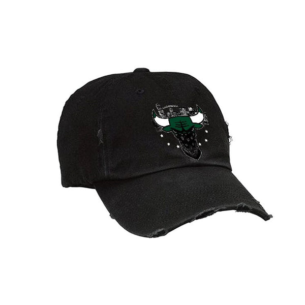 Official IllCurrency Hat Black Hat (Bulls Head j11 low emerald)