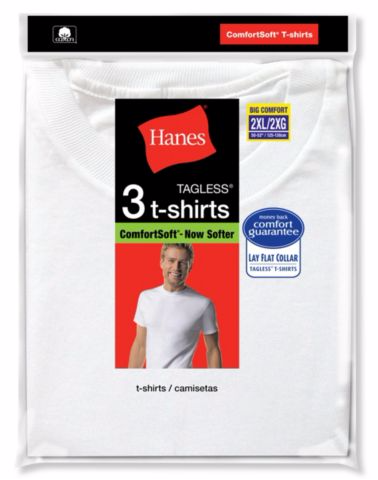 Hanes Big Man's Crewneck T-Shirt 3-Pack