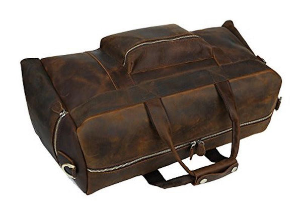 MR. MARTIN - BROWN LEATHER TRAVEL DUFFEL