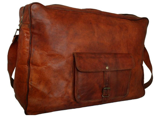 THE QUINTON - LARGE LEATHER SUITCASE 22""