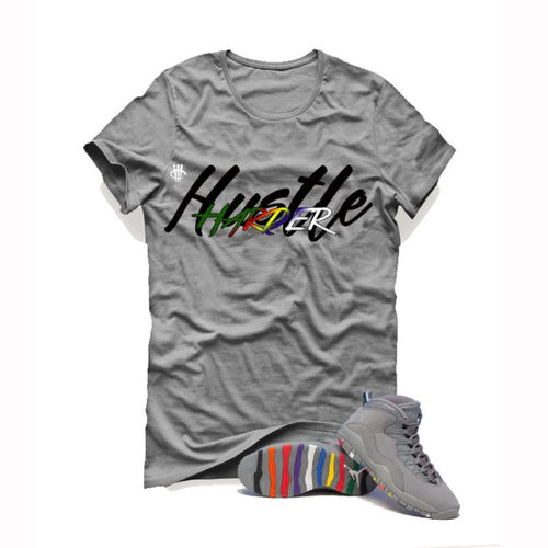 Air Jordan 10 Cool Grey Grey T (Hustle Harder) - LIMITLESSXL