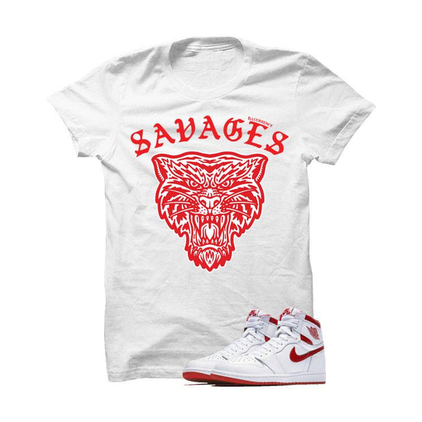 RED WHITE T SHIRT (ILLCURRENCY SAVAGES)