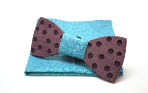 The Joker Round Wooden Bow Tie