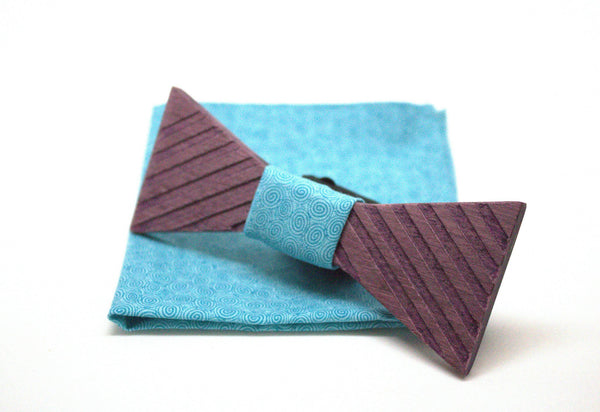 The Joker Stripped Triangular Wooden Bow Tie