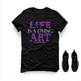 BLACK T SHIRT (LIFE IS A DYING ART) - LIMITLESSXL
