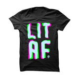 URBAN ALTERNATIVE BLACK T SHIRT (LIT AF SKATE)