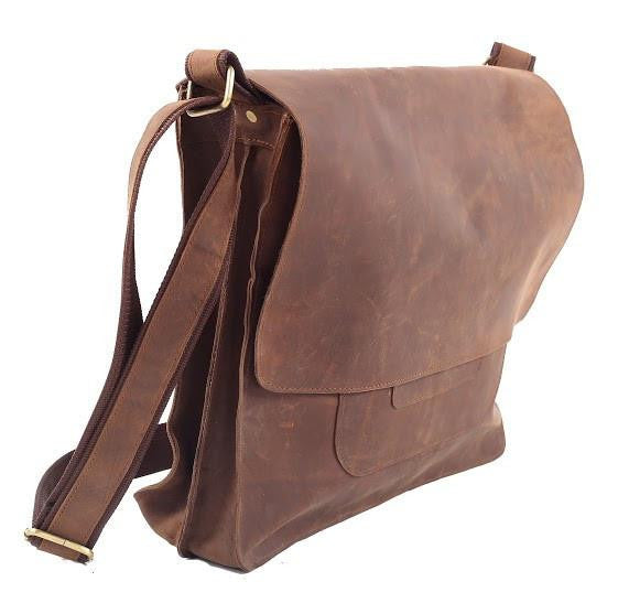 MR ROBERTS - COWHIDE LEATHER LAPTOP BAG