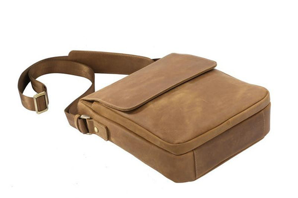 THE GILBERT - SMALL LEATHER MEN'S MESSENGER BAG