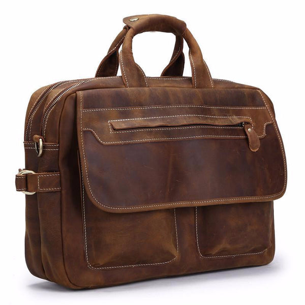 THE BENNET HARD LEATHER MEN'S BRIEFCASE