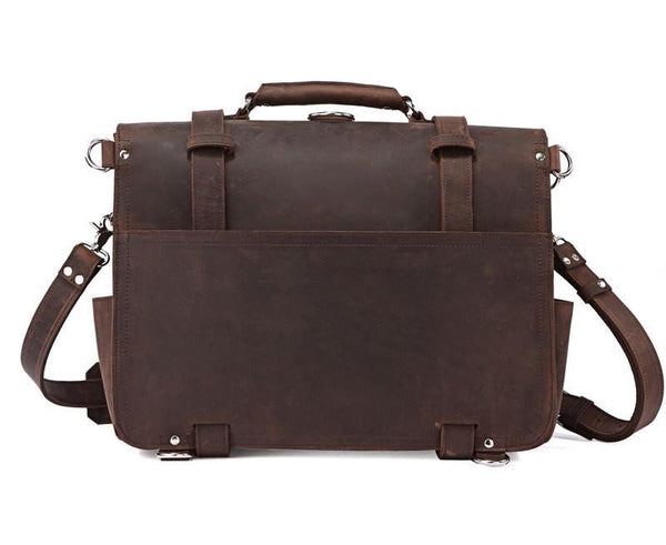 DR EVANS - SADDLE LEATHER BRIEFCASE - LIMITLESSXL