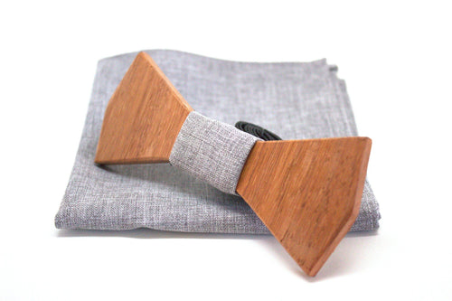 The Scully Diamond Wooden Bow Tie