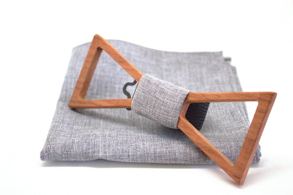The Scully Triangular Hollow Wooden Bow Tie