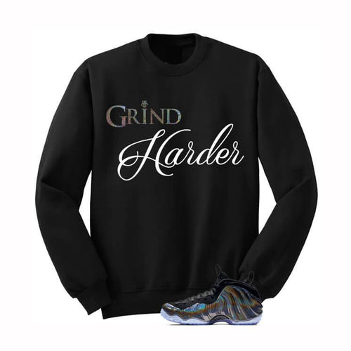 GRIND HARDER HOLOGRAM FOAMS BLACK SWEATSHIRT