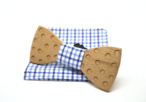 The Terry Round Wooden Bow Tie