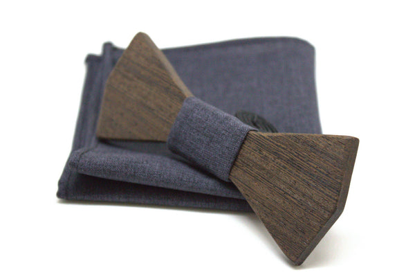 The Morphy Diamond Solid Wooden Bow Tie