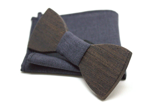 The Morphy Round Wooden Bow Tie