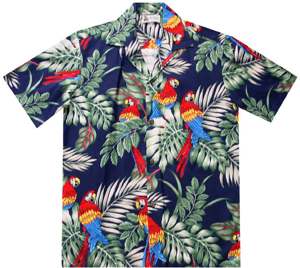 Parrot Republic Hawaiian Shirt