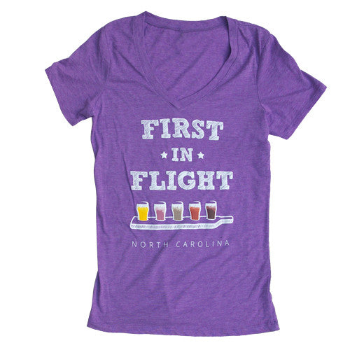 First In Flight Ladies V-Neck
