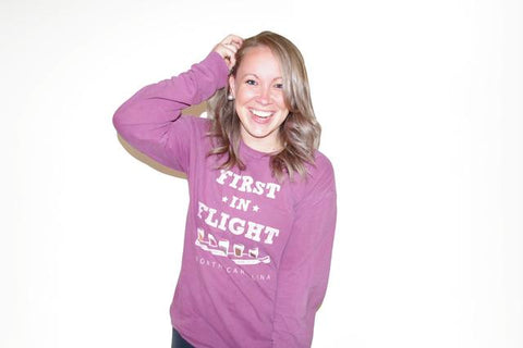 Purple First in Flight Long Sleeve T-Shirt