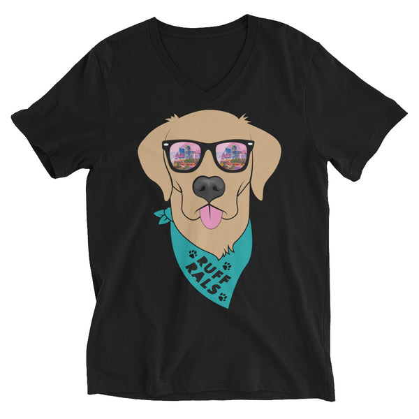 Teal Ruff Rals V-Neck T-Shirt