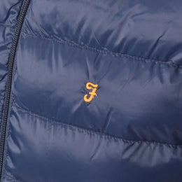 Farah Vintage Stanstall Quilted Gilet - Navy