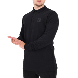Marshall Artist L/S Siren Polo Shirt - Black