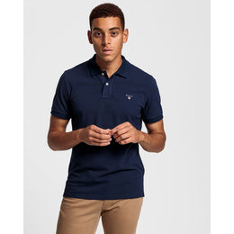 Gant Original Pique SS Polo Shirt - Evening Blue