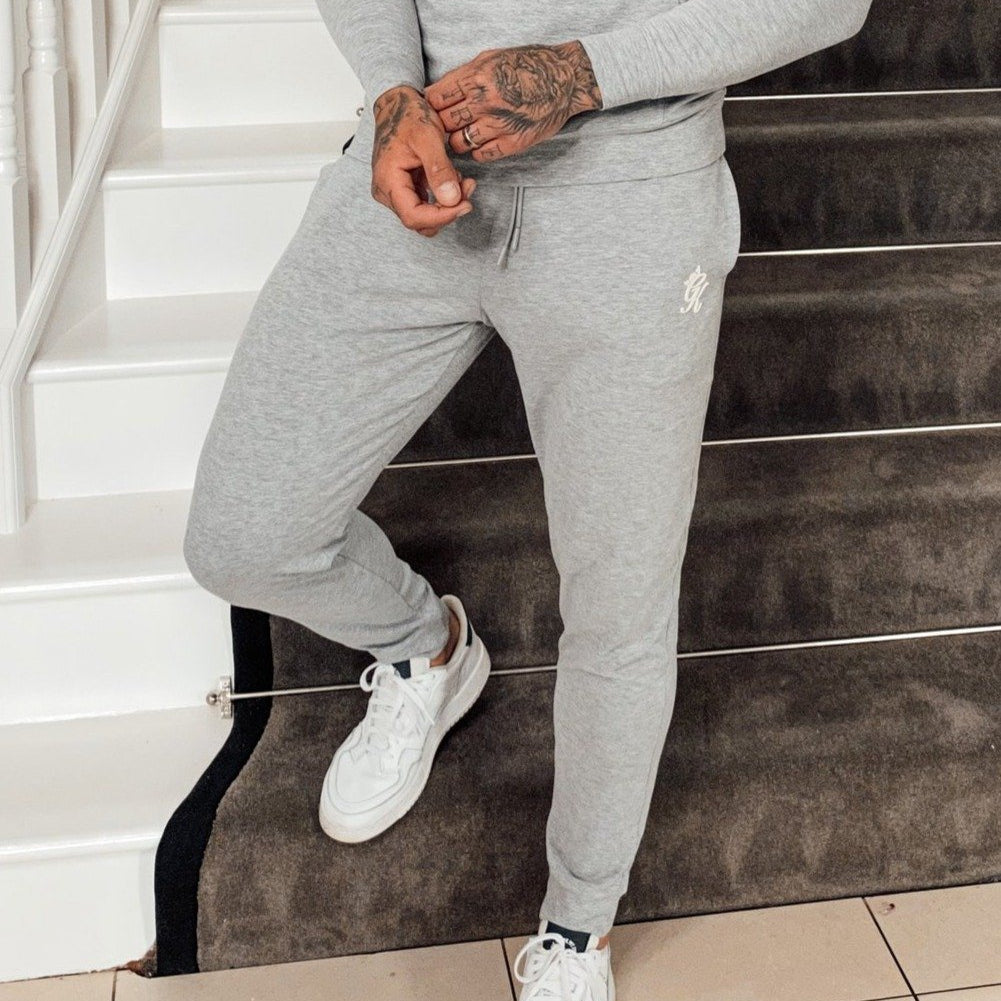 Gym King Basis Lounge Jersey Jogger - Grey Marl