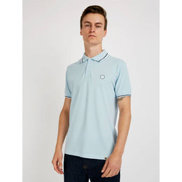 Pretty Green Barton Tipped Pique Polo - Blue