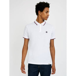 Pretty Green Barton Tipped Pique Polo - White