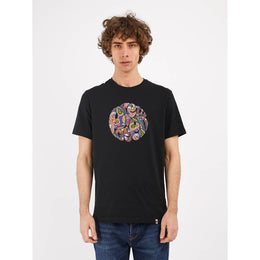 Pretty Green Thornley Paisley Print Logo T-shirt - Black