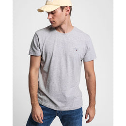 Gant Original SS T-shirt - Light Grey Melange