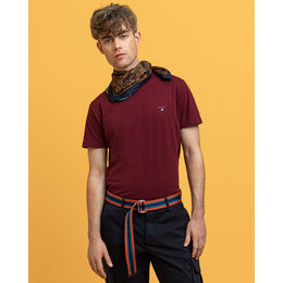 Gant Original SS T-shirt - Port Red