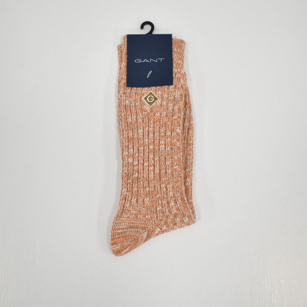 Gant Marled Yarn Socks - Dark Orange