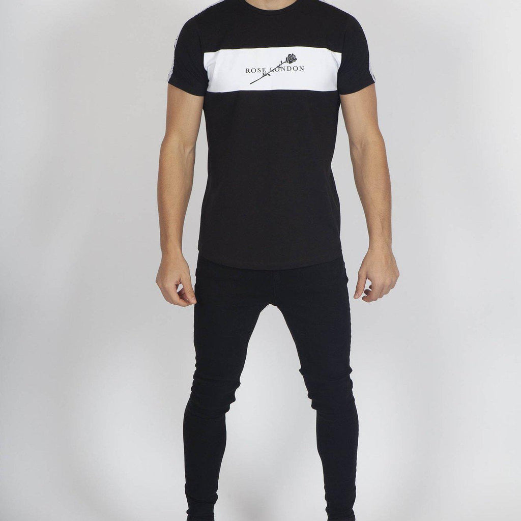 Rose London Cut Panel T-shirt - Black