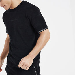 Jameson Carter Towelling Twinset T-shirt - Black