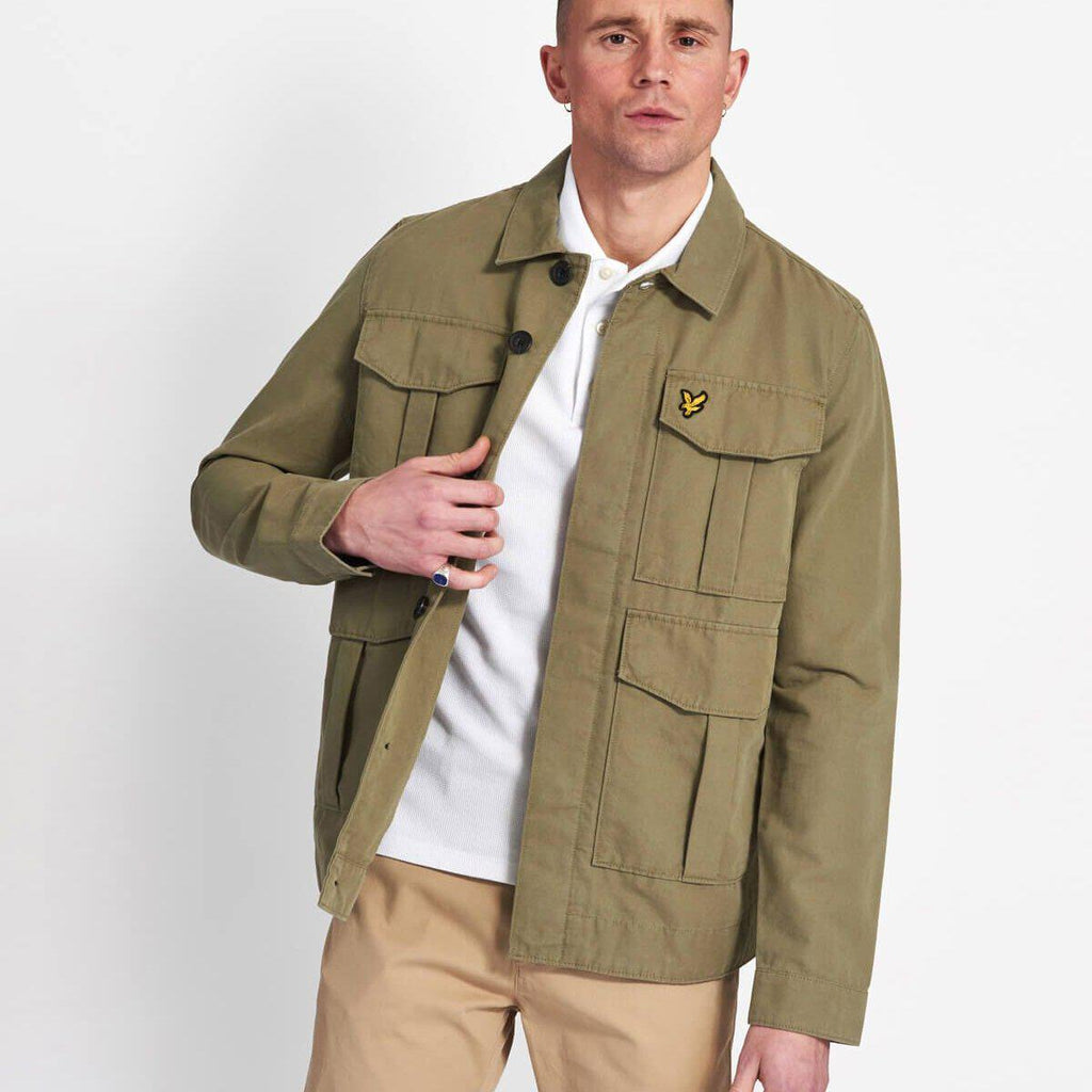 Lyle and Scott Utility Jacket - Lichen Green