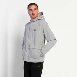 Lyle and Scott Hooded Pocket Jacket - Grey Fog