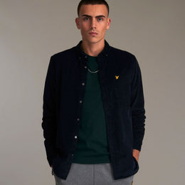 Lyle and Scott Needle Cord Shirt - Dark Navy