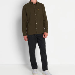 Lyle and Scott Brushed Twill Shirt - Jade Green