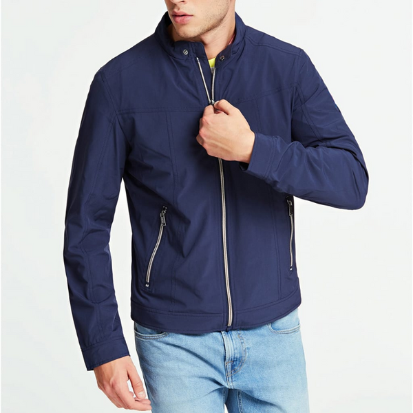 Guess Slim Fit Jacket - Navy
