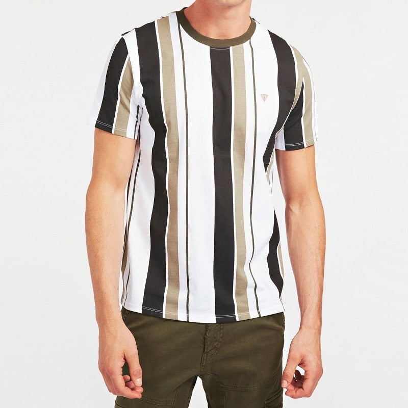 Guess Striped T-shirt - Green Multi