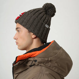 Napapijri Semiury Bobble Hat - Natural Morel