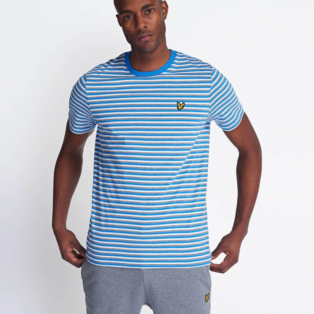 Lyle and Scott Stripe T-shirt - Bright Royal Blue