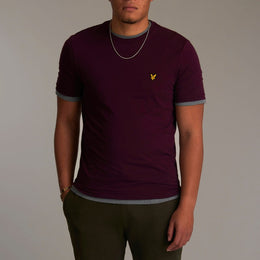 Lyle and Scott Crew Neck T-shirt - Burgundy