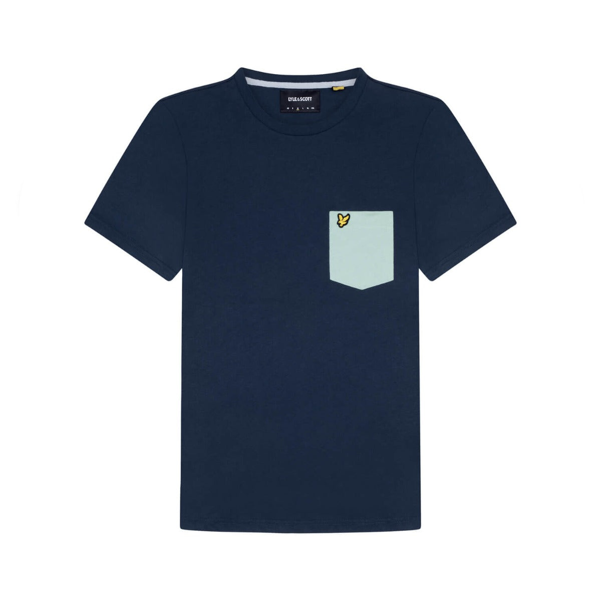 Lyle and Scott Contrast Pocket T-shirt - Navy/Grey Fog