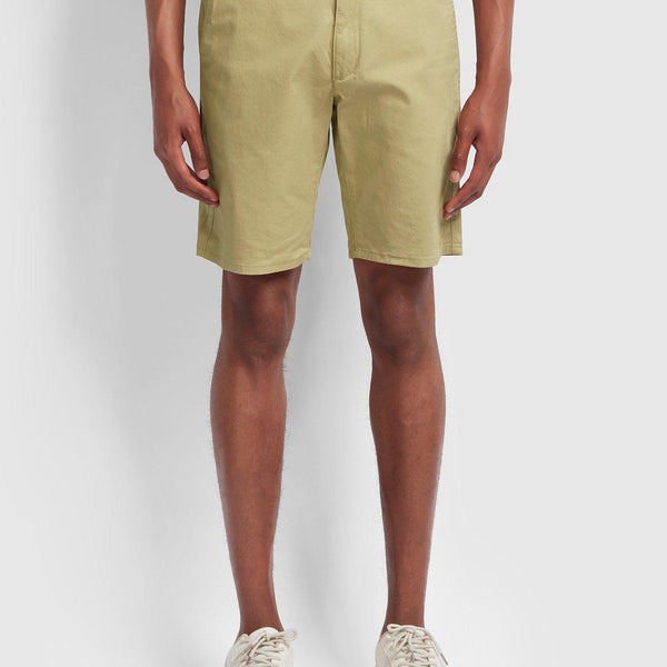 Farah Hawk Twill Chino Shorts - Light Sand