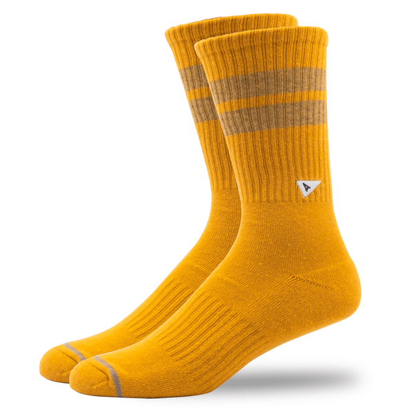 Arvin Goods Crew Long Socks - Yellow